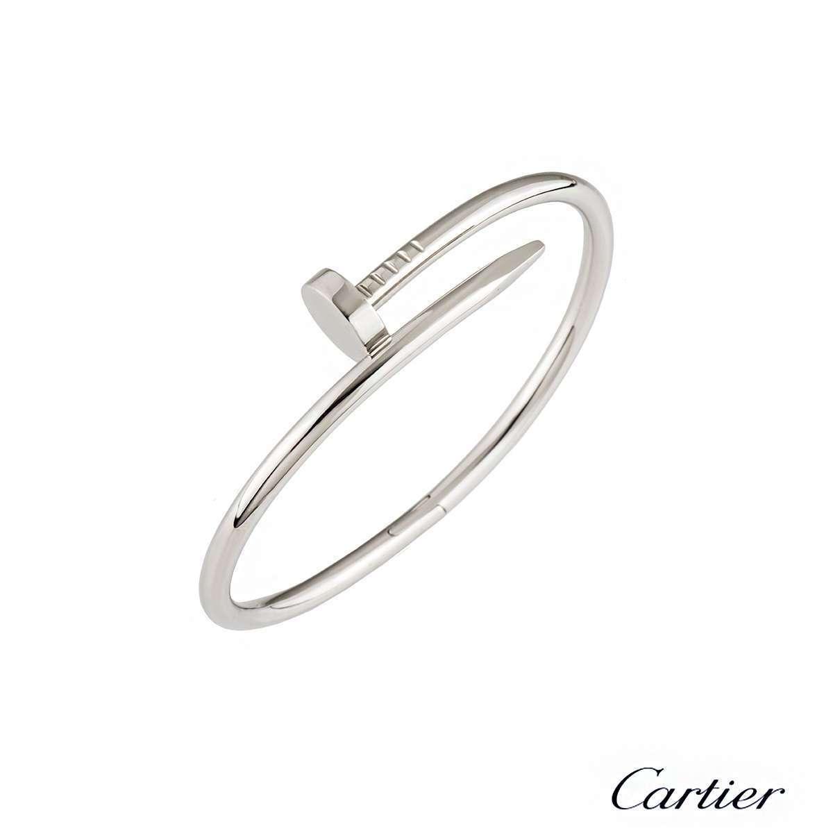 Cartier White Gold Juste un Clou Bracelet Size 18 B6041818